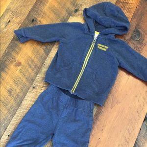 Nike Other - Nike hooded sweatshirt & Carter's Sweatsuit- 18 M